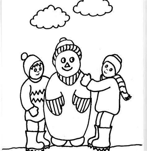 imagenes niños jugando en la nieve dibujos para colorear de quot jugando en la nieve quot dibujo