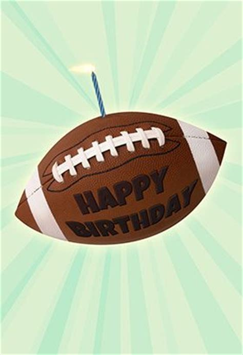 football themed birthday ecards quot football birthday quot printable card customize add text