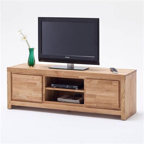 table tele en bois mobile porta tv santos in legno massiccio con due ante