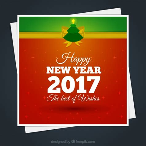 new year vector free new year 2017 card vector free