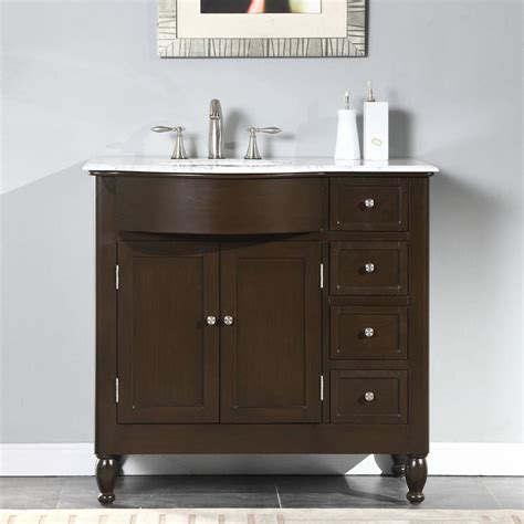 left side sink bathroom vanity silkroad exclusive 38 quot single sink cabinet left