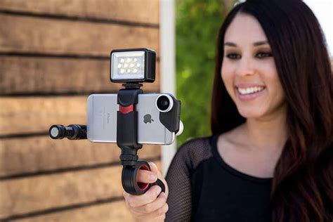 olloclip pivot articulating grip optimizes  mobile videography gadgetsin