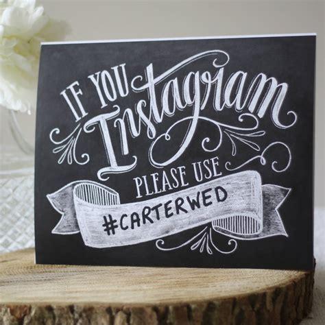 wedding instagram hashtag print by the wedding of my