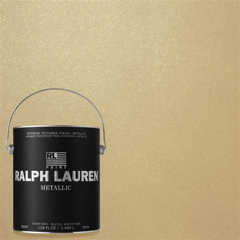 ralph 1 gal pale luster gold metallic specialty finish interior paint me132 the home depot