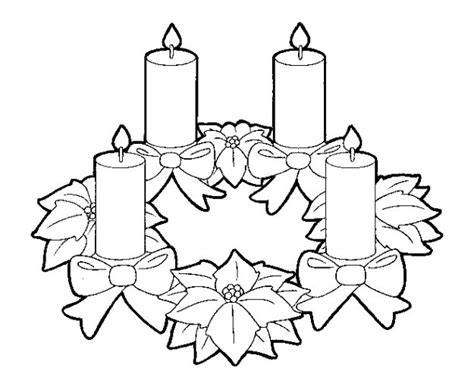 imagenes de tarjetas navideñas para hacer con niños dibujo de una corona de adviento para colorear barrakuda