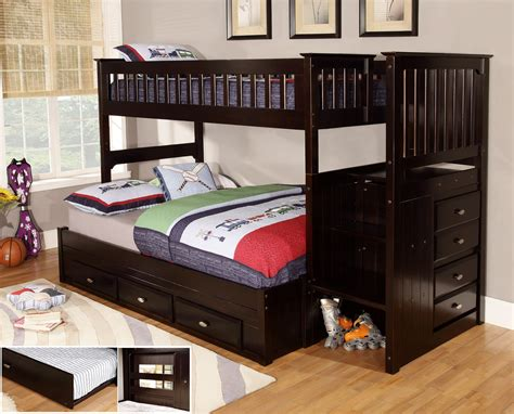 twin and full bunk bed amazing twin over full bunk bed with stairs latest door