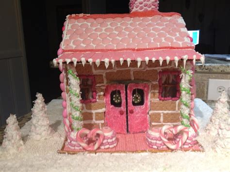 graham cracker house ideas pink gingerbread house made out of graham crackers