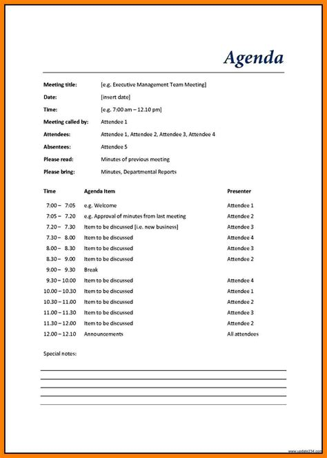 word meeting agenda template 9 word agenda template xavierax