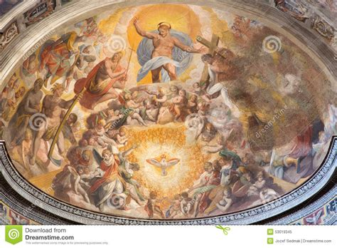 fresco heavens rome jesus in the heaven fresco by scipione