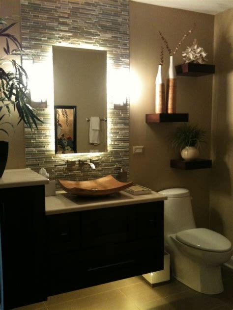 Tropical Bathroom Lighting After Vanity Tropical Bathroom Chicago By J Powless Cabinetry