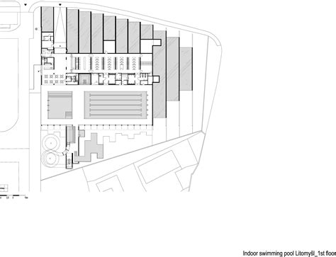 swimming pool floor plan gallery of indoor swimming pool in litomyšl architekti
