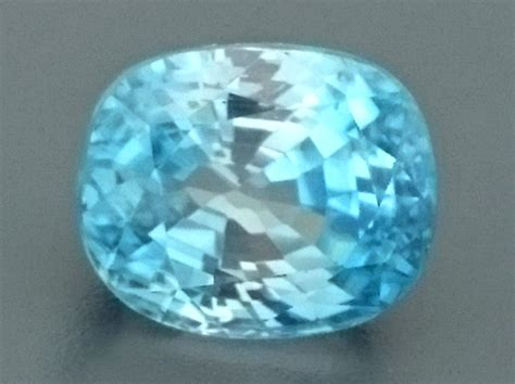 4 83ct light blue zircon gemstone