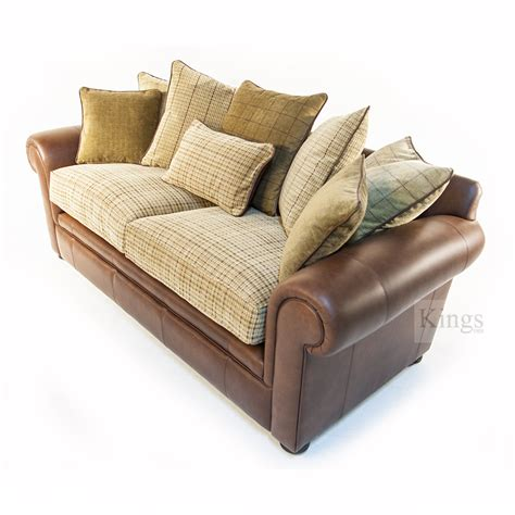 Leather Sofa Upholstery by Wade Upholstery Barnaby Small Sofa Leather And Fabric