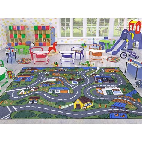 home design 7 x 10 ottomanson jenny collection grey road traffic design 7 ft
