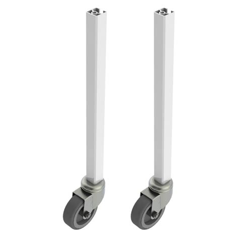 Desk Leg Extensions by Packing Station Table Leg Extensions 10cm With Castors