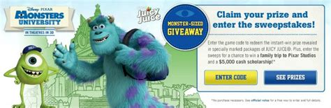 Juicy Juice Sweepstakes - mike and sulley popsicles with nestle juicy juice mujuice a night owl blog