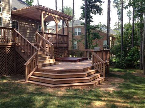 two level backyard 17 best ideas about two level deck on pinterest tiered