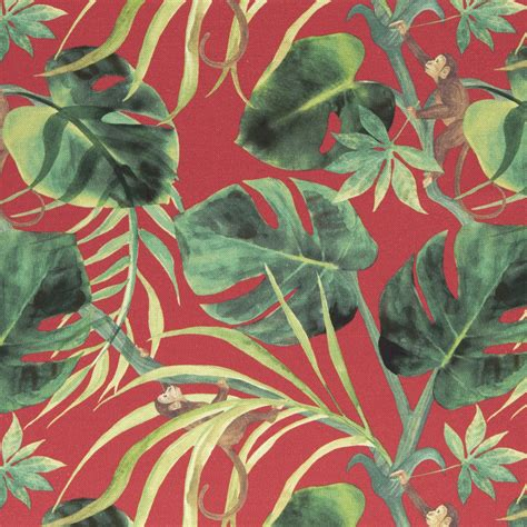 monkey upholstery fabric monkey business rouge fabric colony clarke and clarke