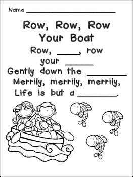 Row, Row, Row Your Boat Book, Poster, & MORE- Kindergarten