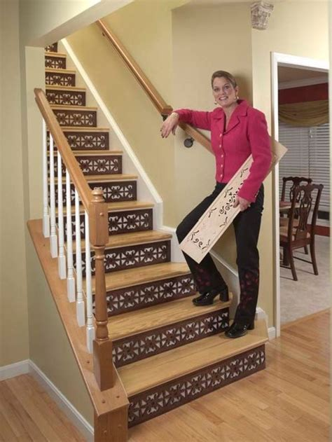 decorating stair risers home design ideas pictures