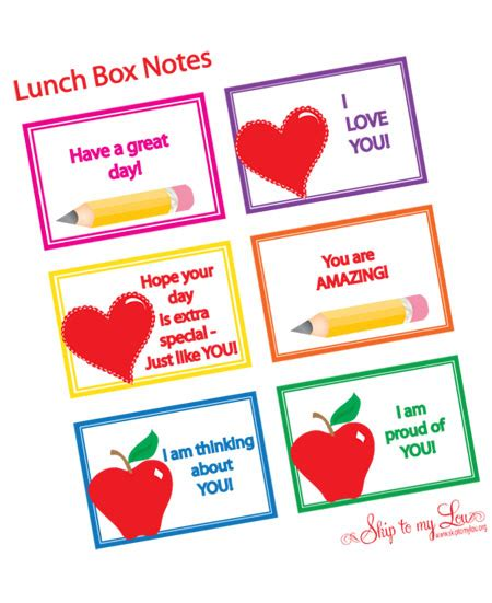 printable lunchbox notes 20 back to school free printables first day of school