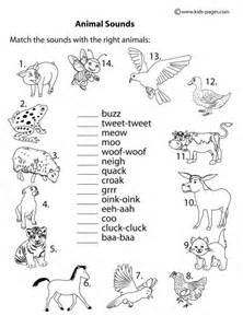 animal sounds amp worksheet