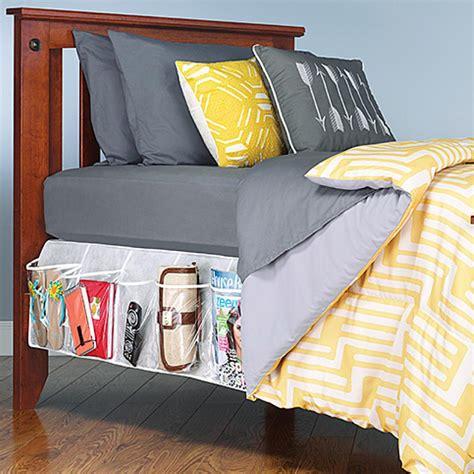 bedside storage amazon com whitmor bedskirt storage organizer clear home