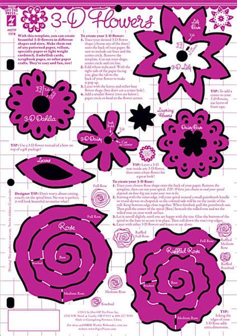 3d flower card template the press 8 1 2x11 template 3d flower
