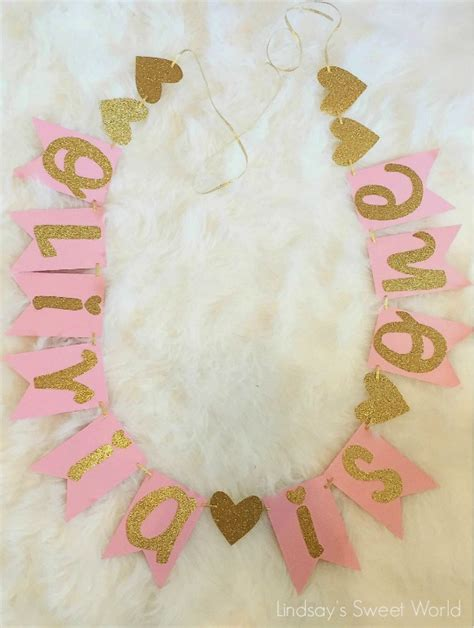 rose themed banner 21 pink and gold first birthday party ideas pretty my party