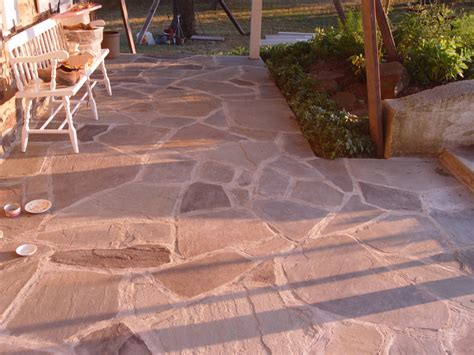 flagstone what to use sand cement or gravel