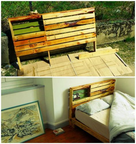 pallets bed frame new pallet bed frame headboard for our new home 1001