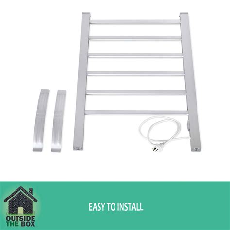 free standing electric towel rails for bathrooms aluminum 6 rung electric heated winter warm towel rail