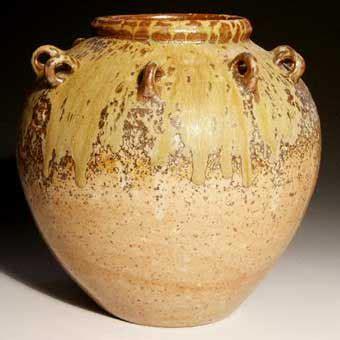Handmade Pots - big pot with lugs handmade pottery by greg seigel of