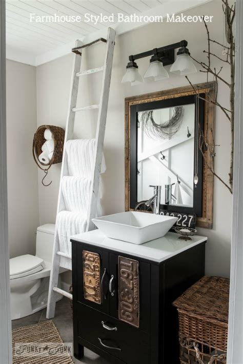 Bathroom Towel Rack Ideas Farmhouse Bathrooms And Projects Knick Of Time