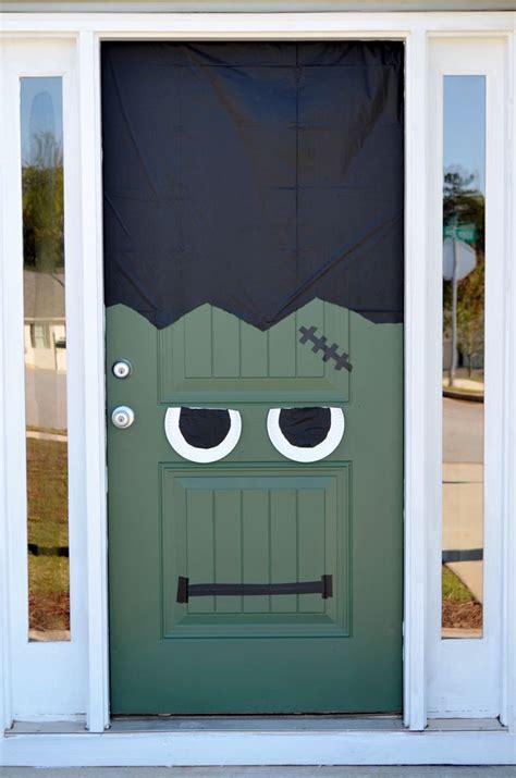 halloween diy frankenstein front door pumpkin