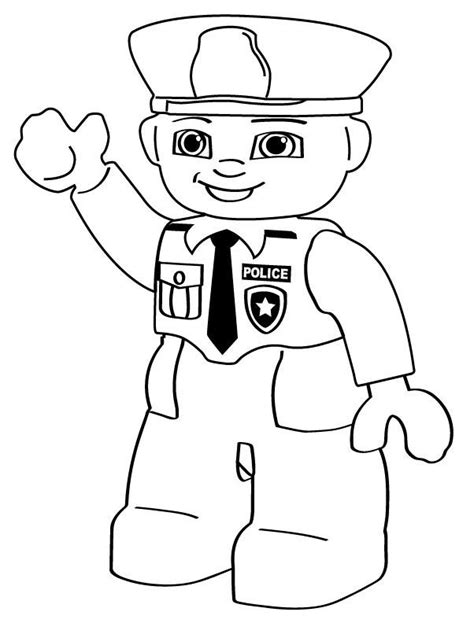 Police Officer Coloring Pages Patrick Lego Pinterest Officer Coloring Pages