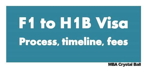 Companies That Sponsor H1b For Mba by F1 To H1b Visa Process Procedure Stages Time Fees