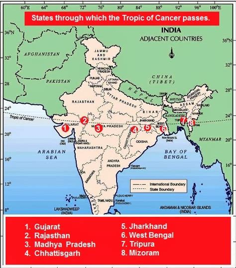 tropic of cancer tropic of cancer passing states in india psc book