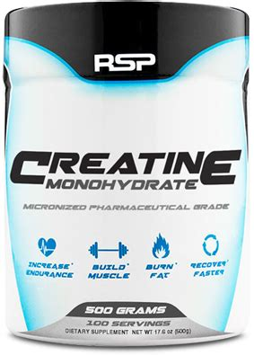 Creatine Rsp 500gram creatine monohydrate by rsp nutrition at bodybuilding best prices on creatine monohydrate