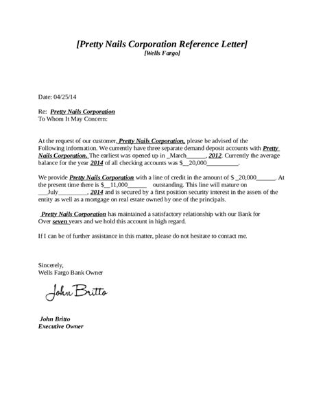 Business Reference Letter To Bank 2018 reference letter templates fillable printable pdf