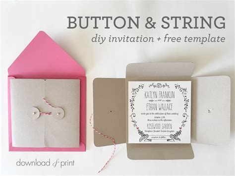 Pocket Wedding Invitations Template by Diy Square Wedding Invitation Pocket Free Template