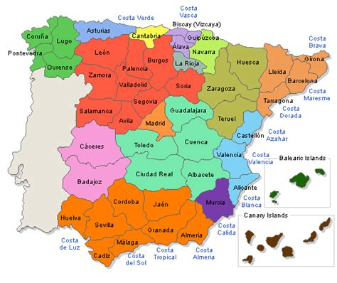 espana map maps of spain cities provinces communities ven a mi casa