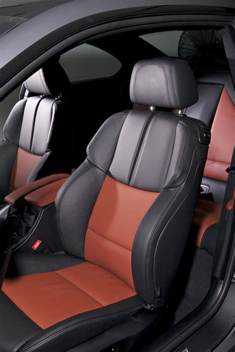 bmw leather upholstery bi color fox red black novillo leather interior
