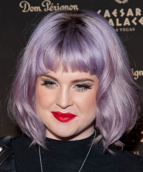 kelly ripa medium straight casual hairstyle medium kelly osbourne medium straight casual hairstyle with blunt