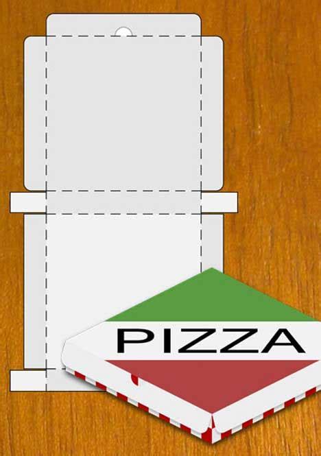 pizza box design template box template clipart best