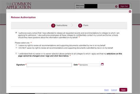 Waive Right To View Letter Of Recommendation Mba by A User S Guide To The Common Application