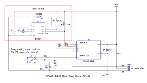 ds1307 circuit diagram how to build a real time clock with a picaxe hardware