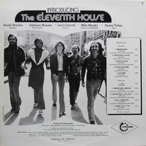 11th house introducing the eleventh house with larry coryell by eleventh house lp with nyphus