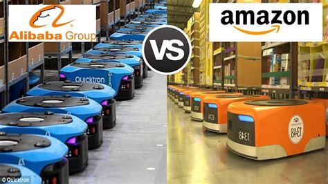 alibaba warehouse amazon s kiva robots vs alibaba s quicktron robots