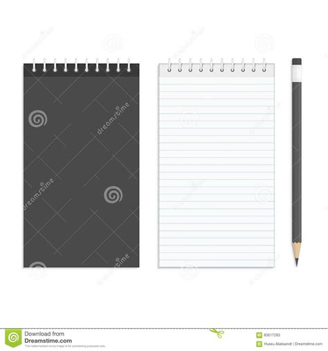 notepad design template black notepad realistic template notebook blank cover
